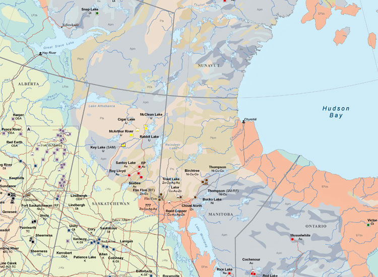 Poster Mining Maps – Canada Mining Map – Mining Intelligence