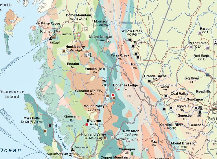 Canada Mining Map