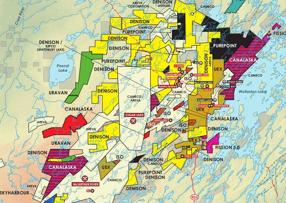 Athabasca Basin, Canada Mining Map