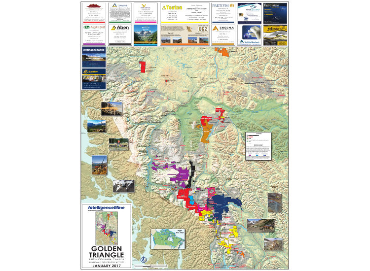 Golden Triangle, BC, Canada Mining Map