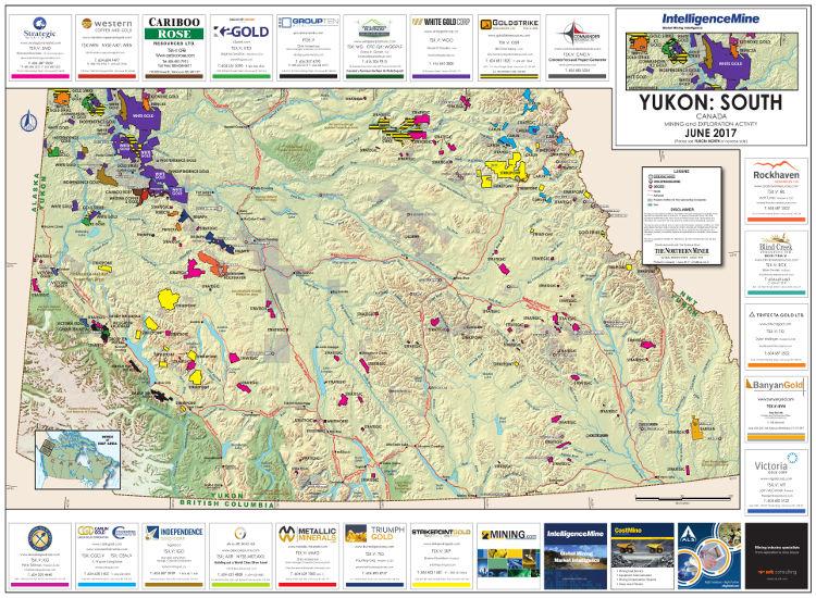 Yukon, Canada Mining Map