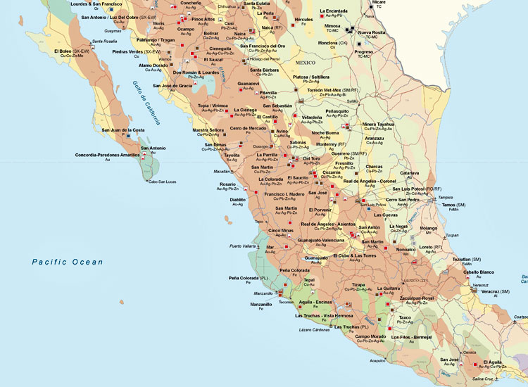 Central America Mining Map