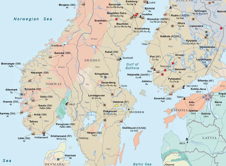 Europe Mining Map