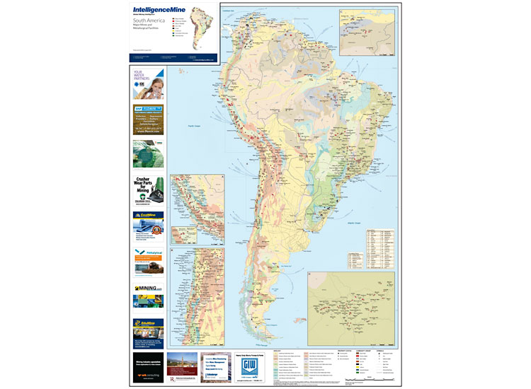 Poster Mining Maps – South America Mining Map – Mining Intelligence