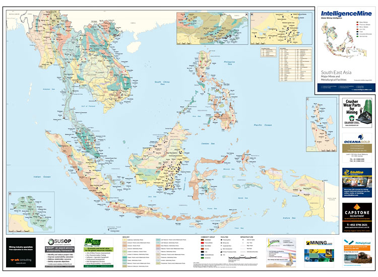 South East Asia Mining Map