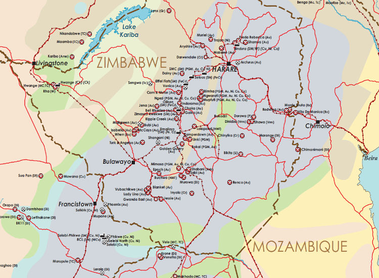 Poster Mining Maps Southern Africa Mining Map Mining Intelligence - Us iron mines map