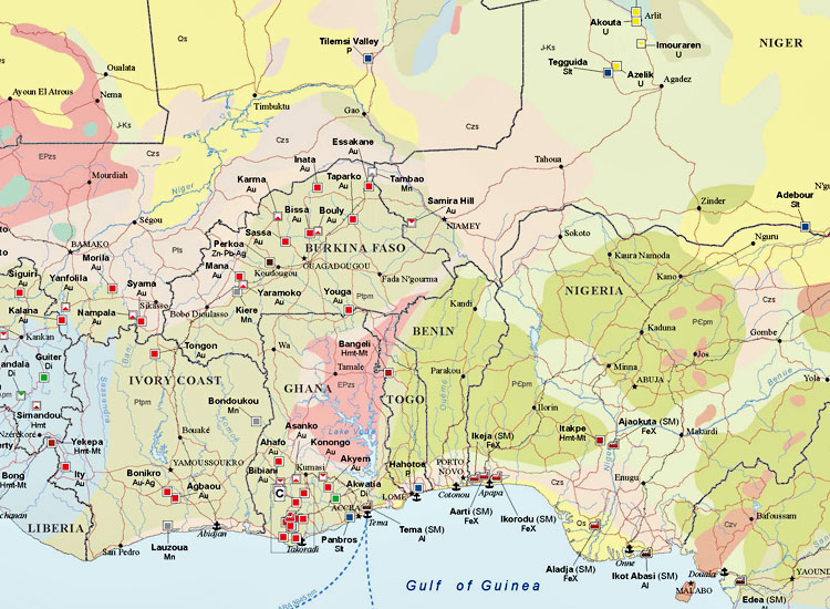 Major Mines and Metallurgical Facilities of Africa