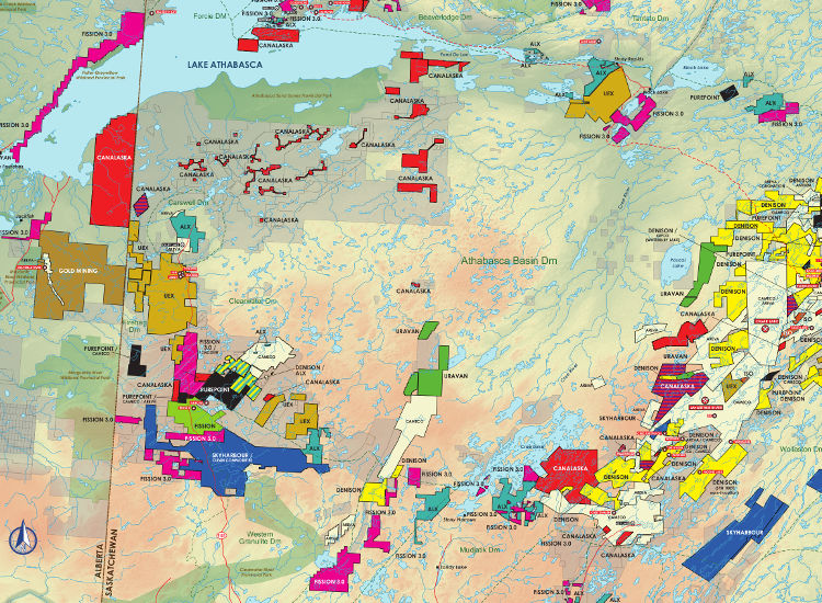 Mining and Exploration Activity of Athabasca Basin, Canada