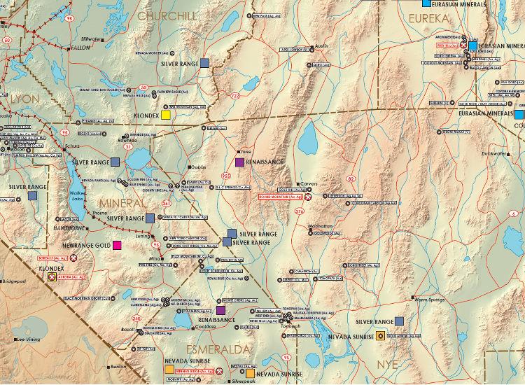 Mining and Exploration Activity of Nevada, USA