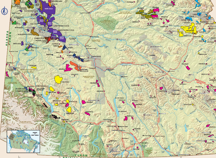 Mining and Exploration Activity of Yukon, Canada