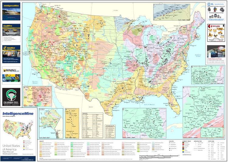 USA Mining Map