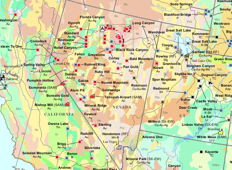 Poster Mining Maps USA Mining Map Mining Intelligence - Map of coal mines in the us